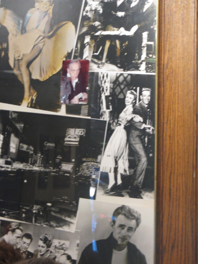Classic Hollywood decor at the Stage Deli