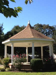 A gazebo in the town of Bridgeville.
