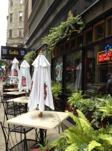 Inviting al fresco dining at Fado, near the Academy of Music in Philly.