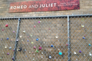 R and J Love Lock Fence