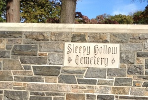 A last look at Sleepy Hollow Cemetery until a future visit to the Hudson Valley.
