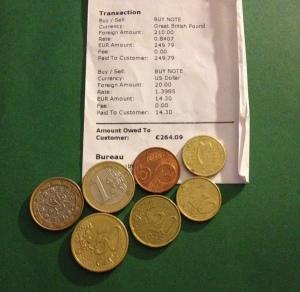 Money Exch Euros